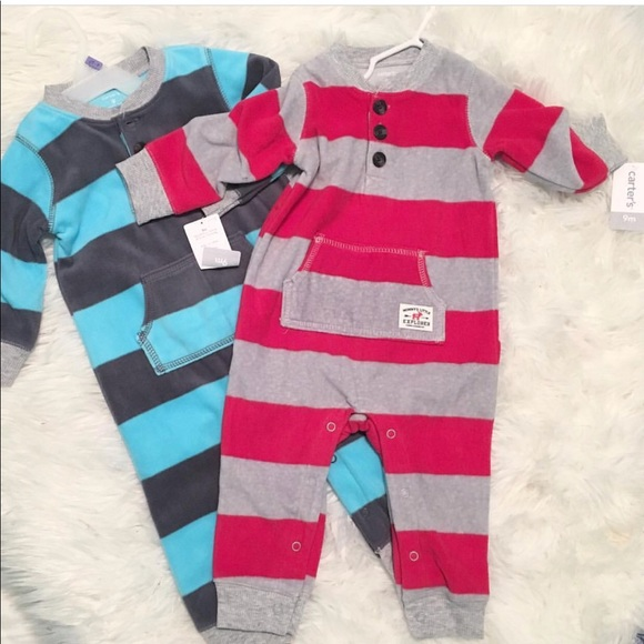 0c4fa61c7 Carter's One Pieces | Carters Fleece 9 Mths New Matching Twin ...